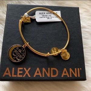 NWT ALEX AND ANI- To the Moon & Back Gold Bracelet